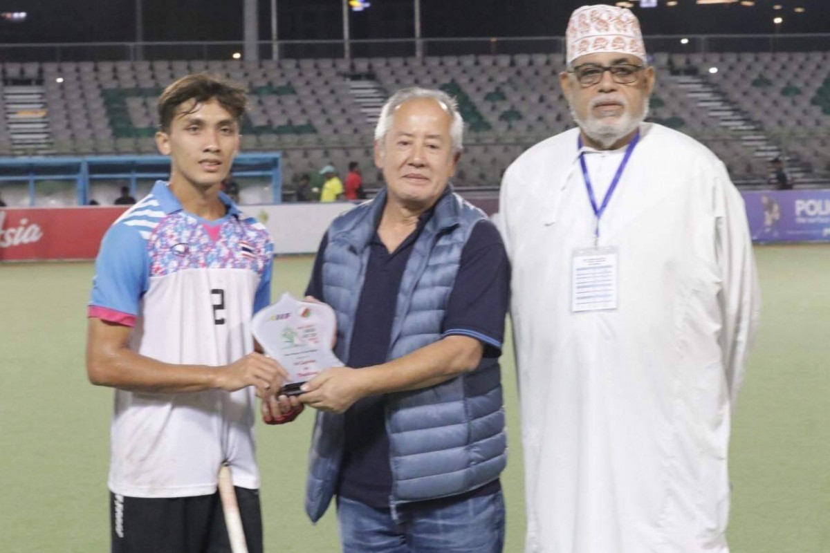 นักศึกษา ม.ราชภัฏนครฯ ได้รับรางวัลนักกีฬายอดเยี่ยม ในการแข่งขันรายการ Men's Hockey Junior AHF Cup ประเทศโอมาน-2