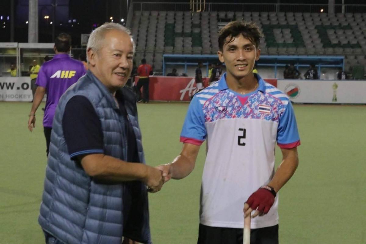 นักศึกษา ม.ราชภัฏนครฯ ได้รับรางวัลนักกีฬายอดเยี่ยม ในการแข่งขันรายการ Men's Hockey Junior AHF Cup ประเทศโอมาน-0