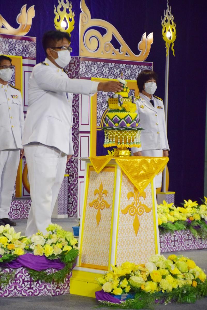 ม.ราชภัฏนครฯ บันทึกเทปถวายพระพรเนื่องในวันเฉลิมพระชนมพรรษาสมเด็จพระนางเจ้าสุทิดา พัชรสุธาพิมลลักษณ พระบรมราชินี ประจำปี 2564-8