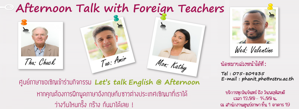 Let's talk english @afternoon
