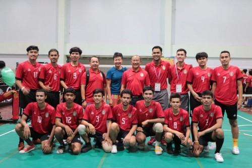 """อธิการบดี มรภ.นศ. เยี่ยมชมและให้กำลังใจทีม มรภ.นศ. ในการแข่งขันกีฬามหาวิทยาลัยแห่งประเทศไทย ครั้งที่ 46 รอบคัดเลือกกลุ่มภาคใต้ """"สารสินเกมส์"""""""