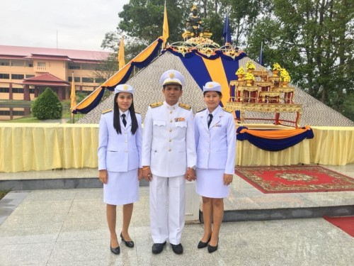 The representative of Nakhon Si Thammarat Rajabhat University attended the Ceremony of offering to the royal on occasion of King Ramkhamhaeng Day