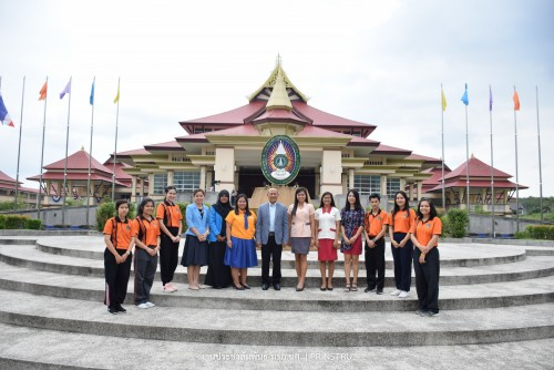 อธิการบดี ม.ราชภัฏนครฯ ให้การต้อนรับนักศึกษาต่างชาติ SEA-Teacher ครั้งที่ 7 ภายใต้โครงการ SEAMEO