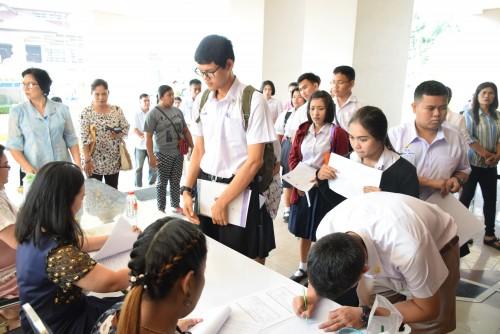 ม.ราชภัฏนครฯจัดการรายงานตัวนักศึกษาภาคปกติ รอบ TCAS Portfolio ครั้งที่ 1/2